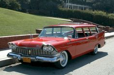1959 Plymouth Custom Suburban station wagon.