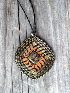 Items similar to Craft Kit Pendant Sweetgrass Gourd Necklace Tutorial Supplies Do It Yourself DIY on Etsy Pine Needle Crafts, Pine Needle Baskets, Painted Gourds, Bead Loom Bracelets, Do It Yourself Crafts, Necklace Tutorial, Pine Needles, Gourd Art, Weaving Art