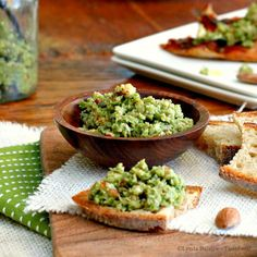 Green Olive and Almond Tapenade. Green Olive and Almond Tapenade Green Olive Tapenade, Olive Green, Yummy Appetizers, Appetizer Recipes, Wine Recipes, Real Food Recipes, Work Meals, Happy Kitchen, Recipes