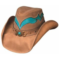 Bullhide Cascade Range Leather Cowgirl Hat ❤ liked on Polyvore
