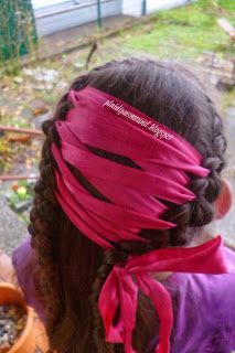 Plaidipus mound: laced up locks ribbon laced through braids for team colors, holidays, wedding hair