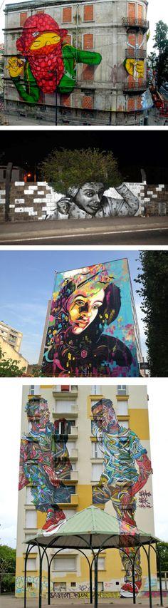 """""""Nas grandes cidades, repletas de prédios, avenidas e viadutos, muitas vezes, as únicas cores que circundam as pessoas na correria do dia-a-dia são as cores da guerrilha urbana. Não é por acaso que já foi dito por aí que o grafitti é a mais autêntica resposta à desumanização das metrópoles."""" Para ver os outros grafites selecionados acesse: http://www.hypeness.com.br/2013/11/selecao-hypeness-35-incriveis-grafites-de-artistas-espalhados-pelo-mundo/"""