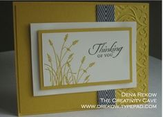 Wetlands stamp set from Stampin' Up! with chevron ribbon