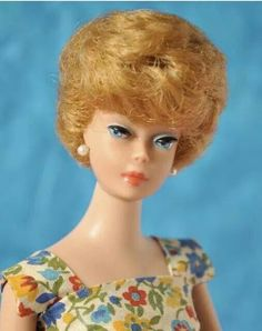 Bubblecut Barbie. By the way, meatloaf, green beans, and mashed potatoes with sweet ice tea for supper (lol).