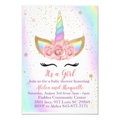 Customize your very own unicorn themed baby shower or birthday party invitations Gender: unisex. Raspberry Smoothie, Apple Smoothies, Unicornio Birthday, Birthday Party Invitations, Birthday Parties, Unicorn Invitations, Savoury Cake, Unicorn Party, Baby Shower Themes