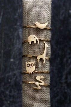 Cute animal rings