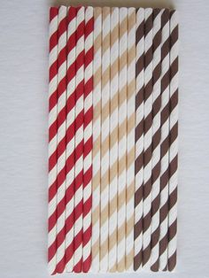 24 Red Brown Cream Sock Monkey Paper Drinking by DKDeleKtables