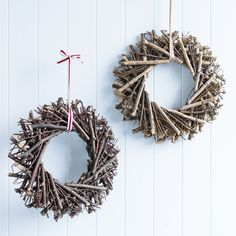 Donna Hay natural twig wreaths
