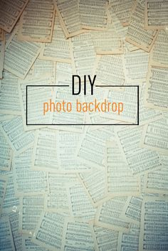 DIY BackDrop I will try this