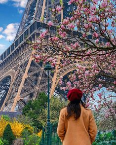 #parisienne #spring #blossom #eiffeltower #toureiffel Tour Eiffel, You Really, Grand Canyon, Louvre, Told You So, Paris, Country, Building, Spring Blossom