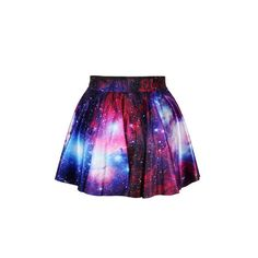 Yoins Fashion Purple Galaxy Print High Waist Pleated Skirt (44 BRL) ❤ liked on Polyvore featuring skirts, high waisted skirts, high rise skirts, high-waisted skirts, high waisted pleated skirt and purple skirt