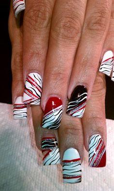 going wild by AlysNails - Nail Art Gallery nailartgallery.nailsmag.com by Nails Magazine www.nailsmag.com #nailart