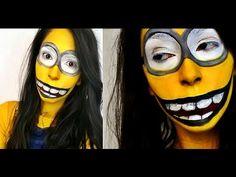 Halloween Makeup: Creepy Despicable Me Minion Makeup - YouTube