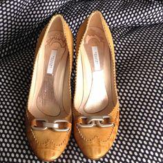 Pollini Heels Yellow Designer Italian