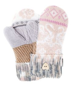 Look at this Light Pink Romance Potholder Mittens - Women on #zulily today!