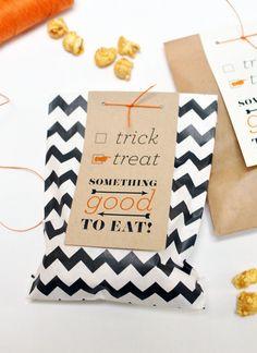 Free Printable: Halloween treat bag tag
