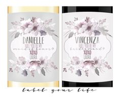 Bridesmaid Proposal - Custom Wine and Champagne Labels - by LabelYourLife