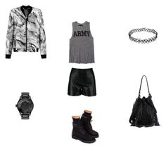 """Dark for Summer"" by monsensdelamode on Polyvore featuring NLST, Timberland, Loeffler Randall, Helmut Lang, Nixon and ootd"