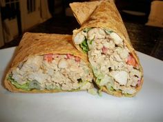 Healthy Hummus Chicken Salad Wraps