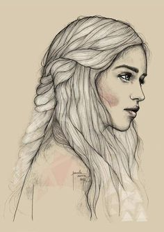 Gorgeous art of Khaleesi.