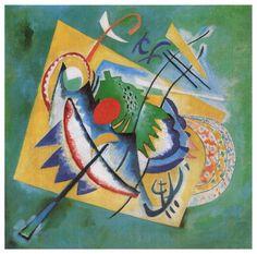 Ovale Rouge, huile sur toile de Wassily Kandinsky (1866-1944, Russia)