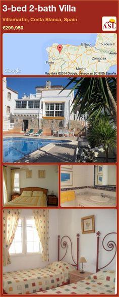 3-bed 2-bath Villa in Villamartin, Costa Blanca, Spain ►€299,950 #PropertyForSaleInSpain