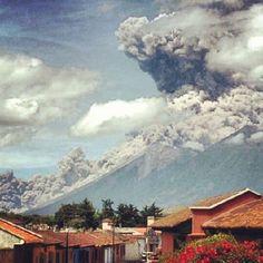 Volcanic eruption in Antigua, Guatemala. I've been here!!