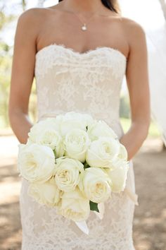 Huge White Creamy Rose Bouquet -- Super Romantic! See the wedding on Style Me Pretty:   http://www.StyleMePretty.com/2012/12/19/california-winery-wedding-from-edyta-szyszlo-photography/ m/2012/12/19/california-winery-wedding-from-edyta-szyszlo-photography/ Edyta Szyszlo Photography