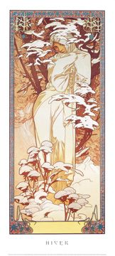 Reprodukce - Secese - Hiver, Alfons Mucha