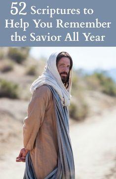 52 Scripture Cards to Help You Remember the Savior All Year #ASaviorIsBorn