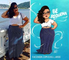 Artist Turned Photos of Plus-Sized Women Into Art And Its Enchanting - bemethis Plus Size Art, Art Beat, Positive Art, Fat Art, Woman Illustration, Animal Coloring Pages, Plus Size Beauty, Fat Women, Fashion Sketches