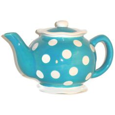 Ceramic Teapot in Retro Turquoise Blue by BeautifullyPractical, $37.00