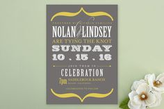 Bold Brackets Wedding Invitations by Teresa Lang Design at minted.com Slate (grey) love these colors!