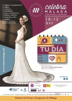 La 9ª edición de Celebra Málaga, Feria de Bodas y Celebraciones tendrá lugar en el Palacio de Ferias y Congreso de Málaga (FYCMA) del 10 al 12 de octubre de 2015   #Fycma #Bodas #Malaga