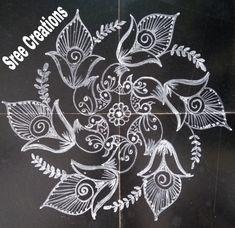 Lotus Rangoli, Kolam Rangoli, Smocking Tutorial, Funky Painted Furniture, Beautiful Rangoli Designs, Simple Rangoli, Collections, Inspiration, Biblical Inspiration