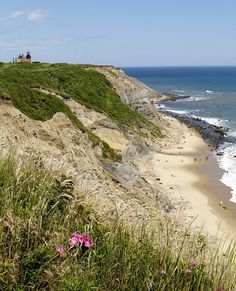 Block Island Lighthouse and Beach