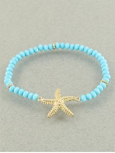 Aqua Starfish Bracelet