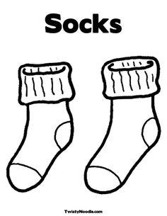 sock template for Fox in Socks More