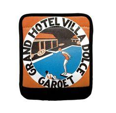 Grand Hotel Villa Dolce Garoet Old Poster Luggage Handle Wrap Finder