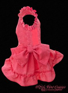 Sheer Eyelet Couture Dog  Dress Soft Coral  by tinypawscouture, $66.00