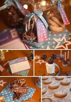 Spekulatius-Marzipan-Pops, Vanillekipferl und Weihnachtsschokolade mit Spekulatius und Mandeln