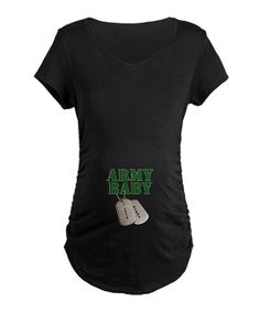 Black 'Army Baby' Maternity Tee