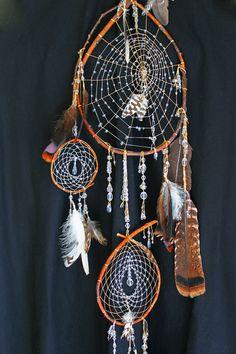 Native American Southwestern Tribal Hippie Gypsy Boho on Etsy, Sold Dream Catcher Mobile, Dream Catcher Art, Crystal Drop, Crystal Beads, Diy And Crafts, Arts And Crafts, Dream Catcher Native American, Medicine Wheel, Craft Kits