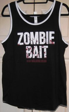 Walking Dead ZOMBIE BAIT Men's Black w/ White Trim TANK TOP - Size Small:  |  Shop Zombie Apparel  |  Zombie Apocalypse  |  Zombie Fans  |  Zombie Infested World  |    #zombieshirts #zombieapparel #zombieclothes #zombies #zombie_fans #zombie_pants #zombie_survival #zombieoutbreak #zombieslippers #zombieshoes http://www.zombieinfestedworld.com/zombie-clothing-and-accessories.html