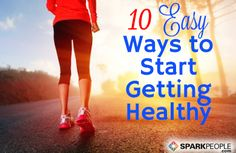Having trouble taking the first step--or knowing how to begin? 10 Tips for Starting a Healthy Lifestyle Plan TODAY | via @SparkPeople #diet #fitness #goal