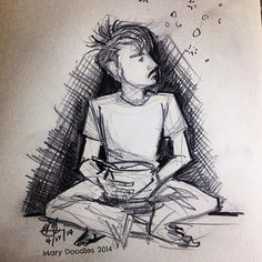 A most difficult breakfast of granola and sleep. #DailyDoodle