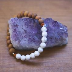 "Sitka  Shanti Collective - Sandalwood + Stone stacking bracelets Moonstone / 7 1/4"" / ACCESSORIES - 24 JEWELLERY - 1"