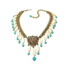 "Shop Heidi Daus ""Bling of the Jungle"" Chain-Link Crystal Drop Necklace at HSN mobile"