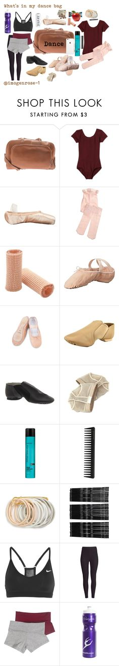 """What's in my dance bag"" by imogenrose-1 ❤ liked on Polyvore featuring Piel Leather, Capezio, Sansha, Bloch Dance, Bloch, Matrix Biolage, GHD, Odeme, Monki and NIKE"