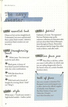 Parisian Chic: A Style Guide by Inès de la Fressange   The Navy Sweater